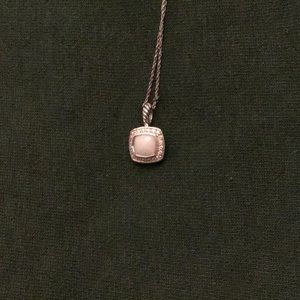 David Yurman White Agate and diamond pendant